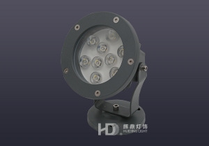 9W单颗大功率LED投光灯