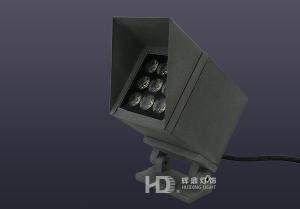 9W带遮光檐方形室外投光灯